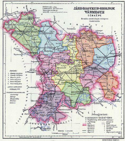 Jasz Nagykun Szolnok Varmegye Terkep 1891 Terkep Szarvas