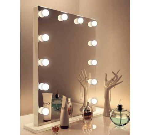Wonderlijk Luxe make-up spiegel met dimbare lampen op voet 60×80 cm in 2020 KW-69