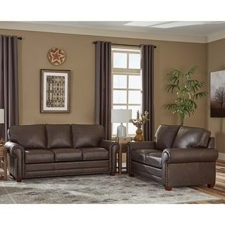 Grain Leather Sofa Bed And Loveseat