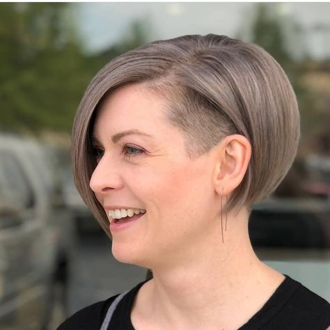 "Photo of @boblovers on Instagram: ""@ms.rebels Haircut by @sarawillcutyou #bobhaircut #undercut #bobhairstyle"