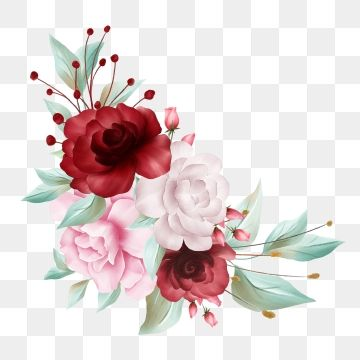 Beautiful Watercolor Flowers Border For Card Element And Decoration Wedding Flowers Template Png Transparent Clipart Image And Psd File For Free Download In 2020 Watercolor Flower Background Flower Drawing Watercolor Flowers