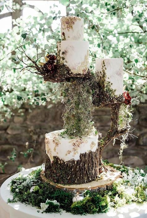 25 Enchanted Forest And Woodland Wedding Cakes - -