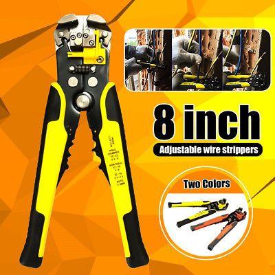 2019 Professional Wire Cable Striper Cutter Electrical Tool Crimper Pliers DE