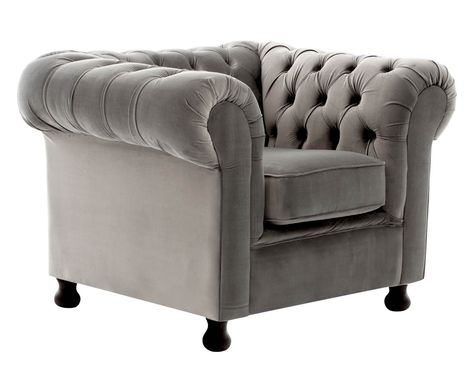 Sessel Chesterfield Silbergrau B 108 Cm Westwing Home Living