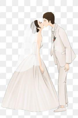 تقبيل العروس والعريس العروس قبلة العريس Png وملف Psd للتحميل مجانا