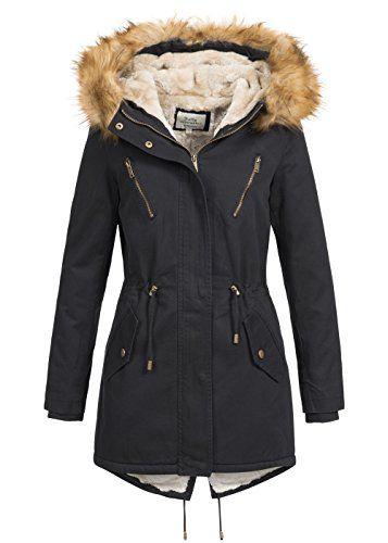 Softy Outerwear Damen Winterjacke Parka mit Kapuze I Webpelz