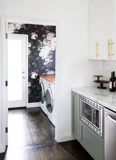 Black Accent Walls For The Home Domino Black Accent Walls Laundry Room Renovation Laundry Room Update