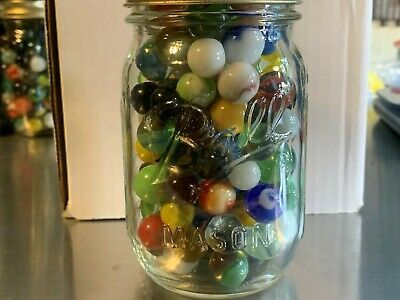 Various Marbles In Ball Pint Canning Jar Appx 1 7 Pounds 10 In 2020 Pint Canning Jars Canning Jars Ball Canning Jars