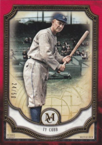 2018 Topps Museum Collection Ty Cobb Ruby Parallel Base 59