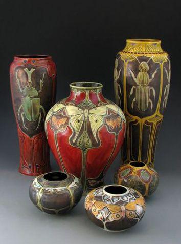 The Entomologist Collection Pottery Art Ceramics Pottery Vase Ceramic Art