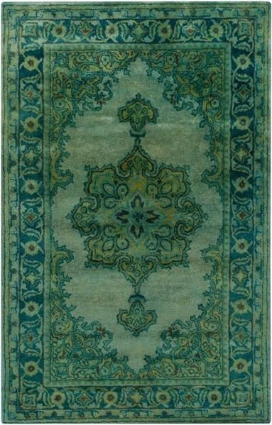 Antique Wash Overdyed Floor Rug