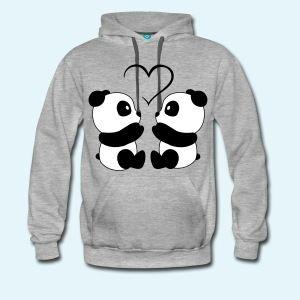 Panda Love - Men's Premium Hoodi
