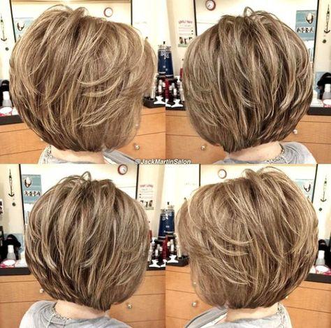 Short Layered Haircuts Fine Hair #BobHairstyles