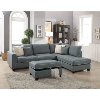 Alcott Hill Charlemont Reversible Sectional With Ottoman Reviews Wayfair Sectional Sofa Couch 3 Piece Sectional Sofa Furniture