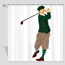 Lyingcat Mug Curtains Shower Golf Theme
