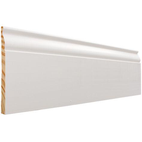 Evertrue 5 1 4 In X 12 Ft Primed Baseboard Moulding Actual 5 25