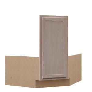 Hampton Bay Hampton Partially Assembled 36x34 5x24 In Corner Sink Base Kitchen Cabinet In Unfinished Beech Kcsb36 Uf The Home Depot Corner Sink Home Depot Kitchen Kitchen Cabinets