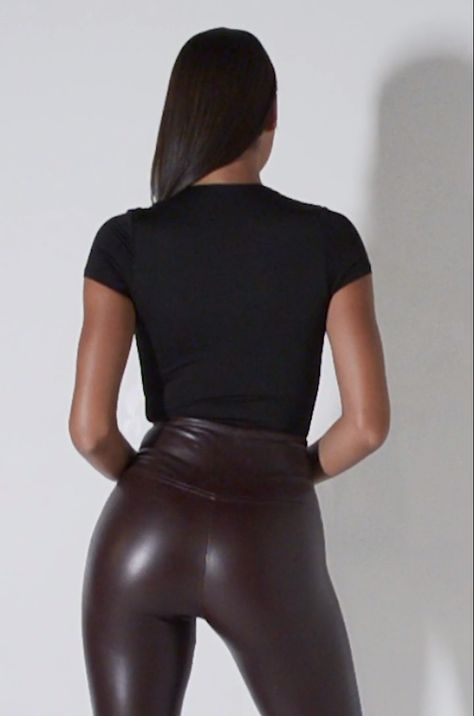 SLIM THICC FAUX LEATHER LEGGINGS