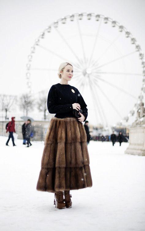 dang, fur skirt