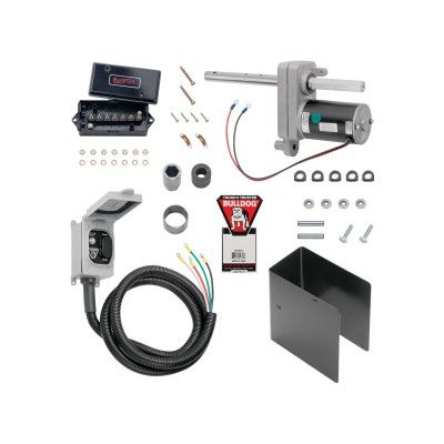 Bulldog 12 000 Lbs Electric Powered Drive Trailer Jack Kit For Single Speed Jacks Trailer Jacks Electric Power Speed Square
