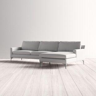 Stonecrest Reversible Modern Modular Sleeper Sectional Allmodern In 2020 Modern Sofa Sectional Modern Sofa Living Room Living Room Sofa Design