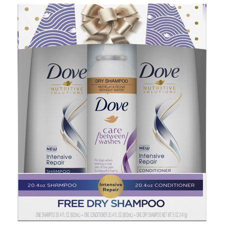 15 Value Dove 3 Pc Intensive Repair Holiday Gift Set Shampoo Conditioner With Bonus Dry Shampoo Walmart Com Dove Shampoo And Conditioner Dry Shampoo Hair Repair Conditioner