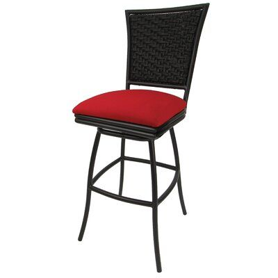 Patio Bar Stool With Cushion Seat