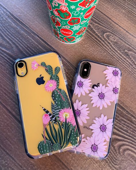 When you have florals on your mind 🌸🌵🌸 Desert Blossom and Purple Daisy Case for IPhone XS / X, iPhone XS Max, iPhone XR & iPhone 8 Plus from Elemental Cases