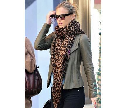 blazer love the outfit on the right! Townhome Green Collection This whole outfit Leopard Scarf!