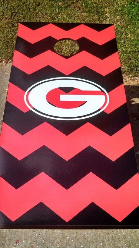 Georgia Bulldogs Cornhole Board Wraps Skins Vinyl Laminated HIGH QUALITY!
