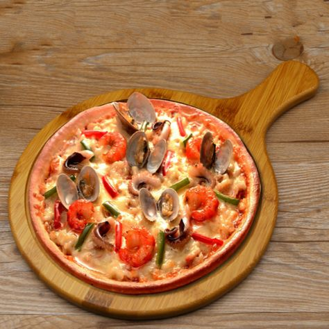 Bread Cake Fruit Tray Pizza Plate 7 14 Inch Bamboo Wood