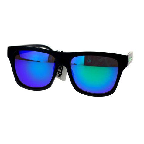 999acfb593 Kush Sunglasses Multicolor Mirror Lens Classic Square Frame Matte Black
