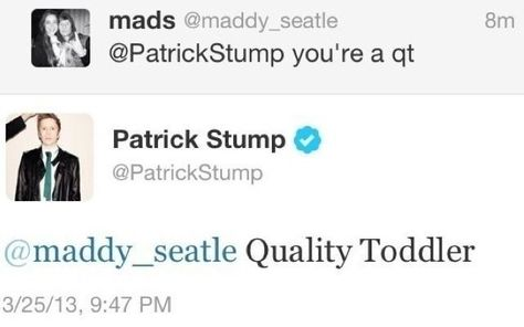 Page 2 Read 101 from the story patrick stump photos by patrickms (fefe) with 569 reads. Emo Bands, Emo Band Memes, Music Stuff, My Music, Music Things, Funny Tweets, Funny Memes, Hilarious, Patrick Stump Tweets