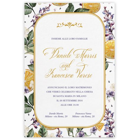 Partecipazioni Matrimonio Varese.Partecipazioni Di Matrimonio On Line My Weddig Paper