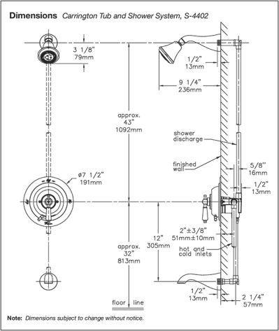 Tub Shower Rough Plumbing Dimensions | Shower tub, Plumbing, Plumbing  drawingPinterest