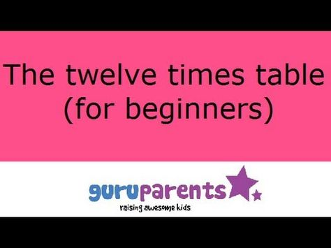 12 Times Tables Song A Nice Slow Tune And The 12 Times