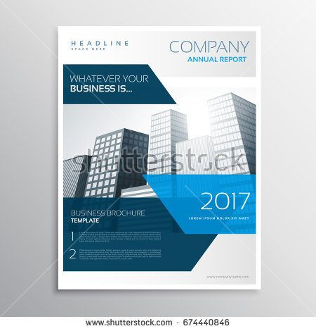 abstract modem company business brochure flyer template design with