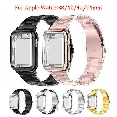 Details About Stainless Steel Band Strap Case Cover For Apple Watch Series 5 4 3 2 40mm 44mm Apple Watch Wristwatch Bands Apple Watch Bands