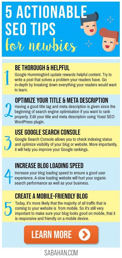 5 Extremely Actionable SEO Tips For Beginners When Starting A New Blog