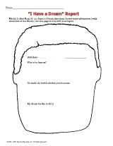 ''I Have a Dream'' Report template for grades K-3 http://www.teachervision.fen.com/martin-luther-king-jr/printable/54875.html #MLK