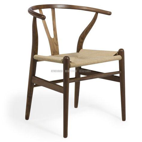 Namaak Design Stoelen.Ch24 Style Rattan Dining Chair Geinspireerd Door Hans J Wegner