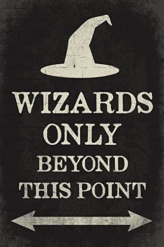 Amazon.com: Keep Calm Collection Wizards Only Beyond This Point, Poster Print: Posters & Prints