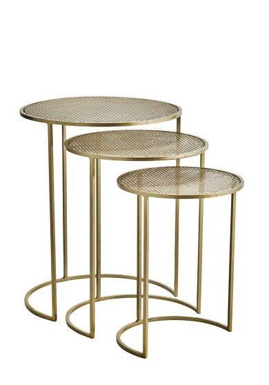 3 Stoliki Basic Brass 21888ab Madam Stoltz With Images Stol Stoliki Kawowe Design