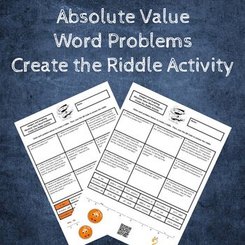 6th Grade Absolute Value Word Problems Create The Riddle Activity Word Problems Absolute Value Words Absolute value worksheets 6th grade