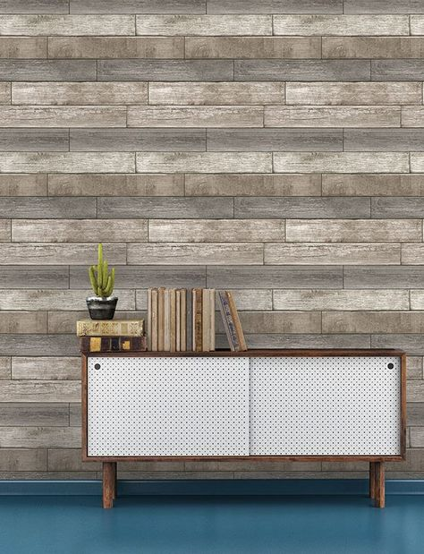Reclaimed Wood Plank Natural Peel And Stick Wallpaper Reclaimed Wood Wallpaper Wood Plank Wallpaper Wood Wallpaper