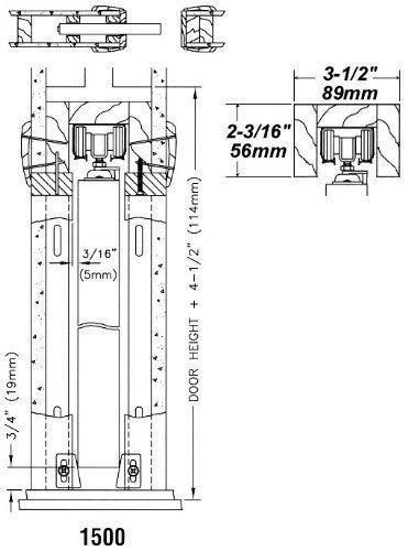 Johnson Hardware 1500 Series Pocket Door Frame Kit 30 X 84 Pocket Door Hardware Amazon Com Pocket Door Frame Pocket Doors Pocket Door Hardware