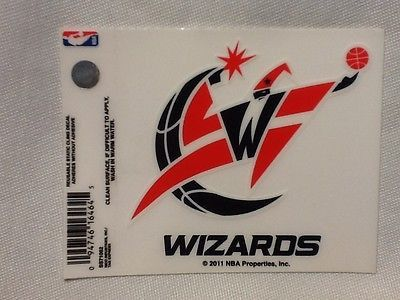 Brand New Washington Wizards Static Cling Decal! Size- 3.5 inches tall and 3.75 inches across. Reusable and adheres on the outside of a window without adhesive. Looks great on car windows or any clear surface. Officially licensed product.