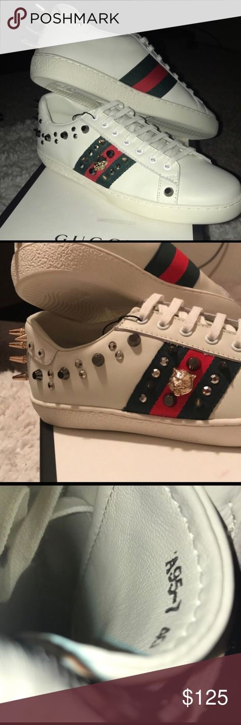 Gucci Ace Studded Tiger Sneakers DOES