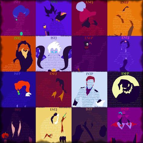 MyersBriggs Disney Villains by LittleMsArtsy... I'm the hun guy from Mulan... I think his name is Shan Yu??? Idk...