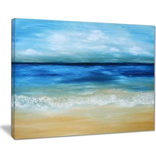 Canvas Prints Paintings You Ll Love Wayfair Seascape Paintings Ocean Painting Beach Oil Painting